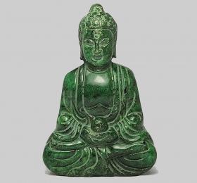 Будда ручная работа резьба старый нефрит статуя