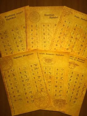 Комплект Древних Свитков – 6 магических Алфавитов