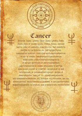 Свиток Ангела Зодиака Рак