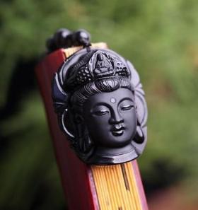 Подвеска Будда в медитации - Натуральный Обсидиан
