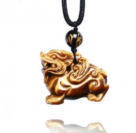 Подвеска Пи Яо – Древний символ защиты и безопасность – Тигровый глаз