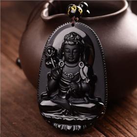 Древняя Богиня Kwan-yin – символ процветания и покровительства женской природе - Натуральный Обсидиан