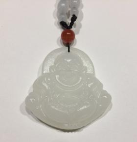 Подвеска Счастливый Будда - денежный талисман – жадеит