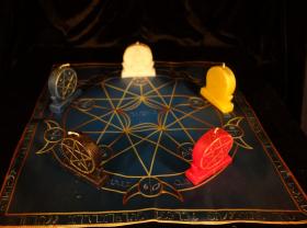 Языческий Ритуал Магии Викка Волшебство Пентаграммы Денежный обряд R-016