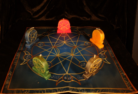 Языческий Ритуал Магии Викка Волшебство Пентаграммы Он будет мой!   R-019