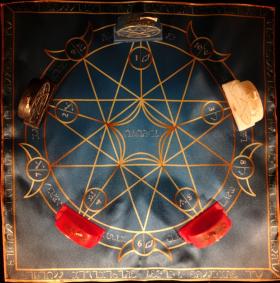 Языческий Ритуал Магии Викка Волшебство Пентаграммы Щит Богини R-021