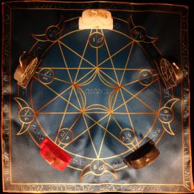 Языческий Ритуал Магии Викка Волшебство Пентаграммы Только жизнь! R-025