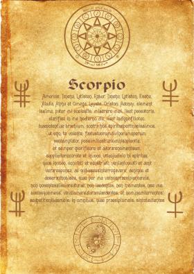 Свиток Ангела Зодиака Скорпион