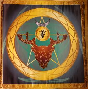Большой Викканский Церемониальный Алтарь Накидка Бог и Богиня