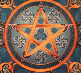 Магическая скатерть Викка Водная Звезда – Волшебная Сила Воды средняя