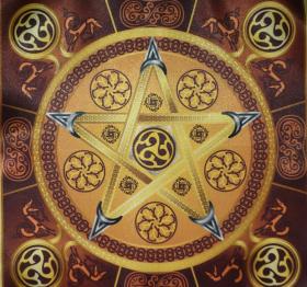 Магическая скатерть Викка Звезда Земли – Волшебная Сила Земли средняя
