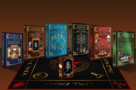 Комплект Скатерть Таро Алфавит магическая  и Колода Таро Алфавит и 6 книг Серии Таро Алфавит