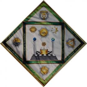 Скатерть Алтарная масонская №4 градусы 18,19,20,21,22