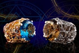 Женское кольцо «Владычица» с голубым топазом