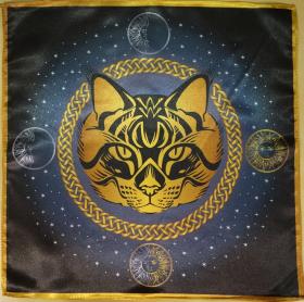 Скатерть Декоративная Предсказательная Серая кошка средняя