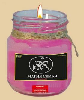 Свеча - талисман для создания семьи. Магия семьи.