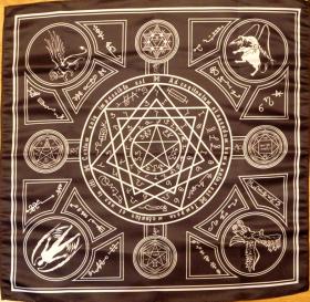 Скатерть-Алтарь Энохеанской магии черный-белый