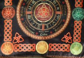 Скатерть-Гобелен Ритуально-декоративная Колесо Года-2 большая