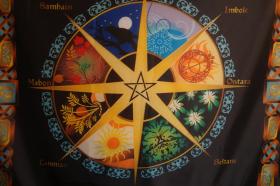 Скатерть Ритуально-декоративная Колесо Года-1 средняя