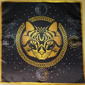 Скатерть Декоративная Предсказательная Черная кошка средняя