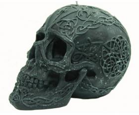 Свеча Черное наказание (большой череп)