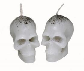 Свеча Вспомогательная череп малый белый 2 шт