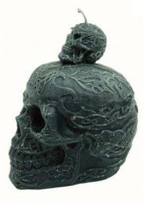 Свеча Взыскание (двойной череп)
