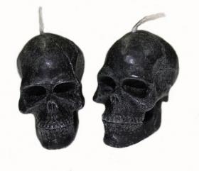 Свеча Вспомогательная череп малый черный 2 шт