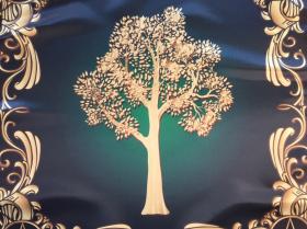 Скатерть Платок Викканское древо Сбор урожая 55х55 см
