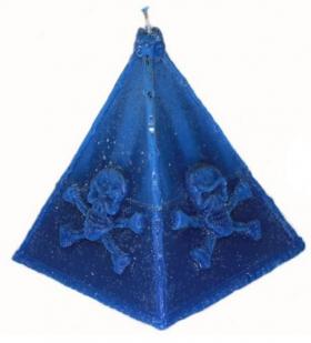 Пирамида синяя свеча