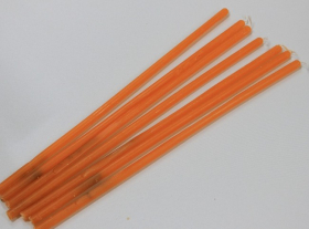 Свеча Вспомогательная восковая Оранжевая
