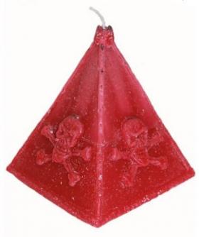 Пирамида красная свеча
