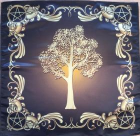 Скатерть Платок Викканское древо Сила земли 55х55 см