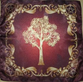 Скатерть Платок Викканское древо Могущество природы