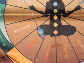 Комплект Чакровая скатерть для работы с маятником + Маятник