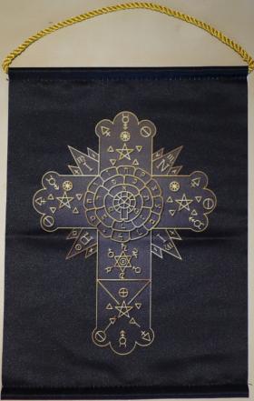 Вымпел Розы и Креста (розенкрейцеров) золотой