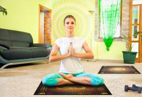 Скатерть для медитаций и йоги Аум-оранжевый