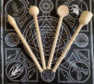 Комплект 4 Болванки Магических Скипетров Жезлов Огня, Воды, Воздуха и Земли Ордена Золотого Восхода