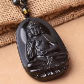 Подвеска Талисман Благословение Будды – обсидиан