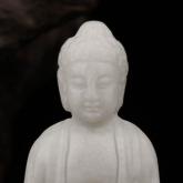 Будда ручная работа резьба старый белая яшма статуя