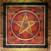 Магическая скатерть Викка Огненная Звезда – Волшебная Сила Огня  средняя