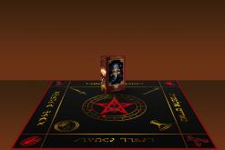 Комплект Скатерть Таро Алфавит магическая  и Колода Таро Алфавит