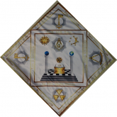 Скатерть Алтарная масонская №1 градусы 3,4,5,6,7