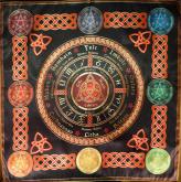 Скатерть Ритуально-декоративная Колесо Года-2 средняя малая