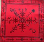 Ритуальная Скатерть Обряды Вуду красная версия