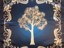Скатерть Платок Викканское древо Чистая вода 55х55 см