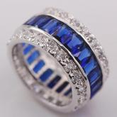 Кольца Драгоценный круг Синий сапфир