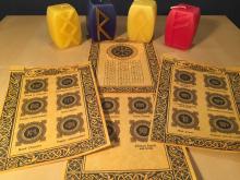 Уникальный Комплект Рунических свитков + Свеча Рун в подарок