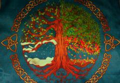 Скатерть Викканская Языческая традиция Времена года  большая