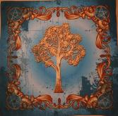 Скатерть Платок Викканское древо Чистота небес